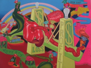Peter Saul;  Mr. Welfare, 1969